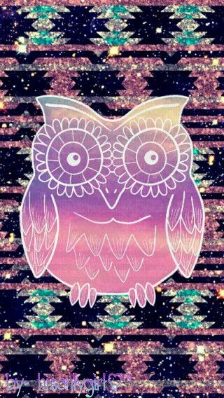 coruja colorida desenho papel de parede iphone apple wallpaper plano de fundo meninas tumblr hipster colorida roxa azul