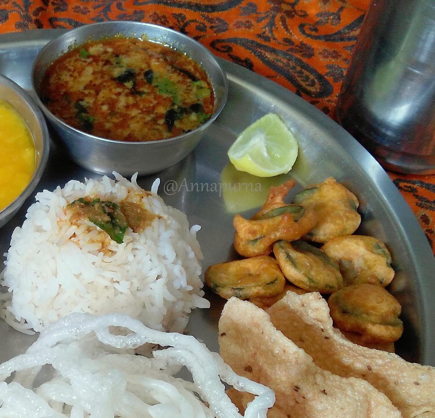 Annapurna akshaya tritiya naivedhyam thali for Annapurna cuisine
