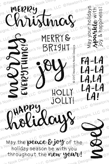 Sentiment of the Season Stamp Set by Newton's Nook Designs