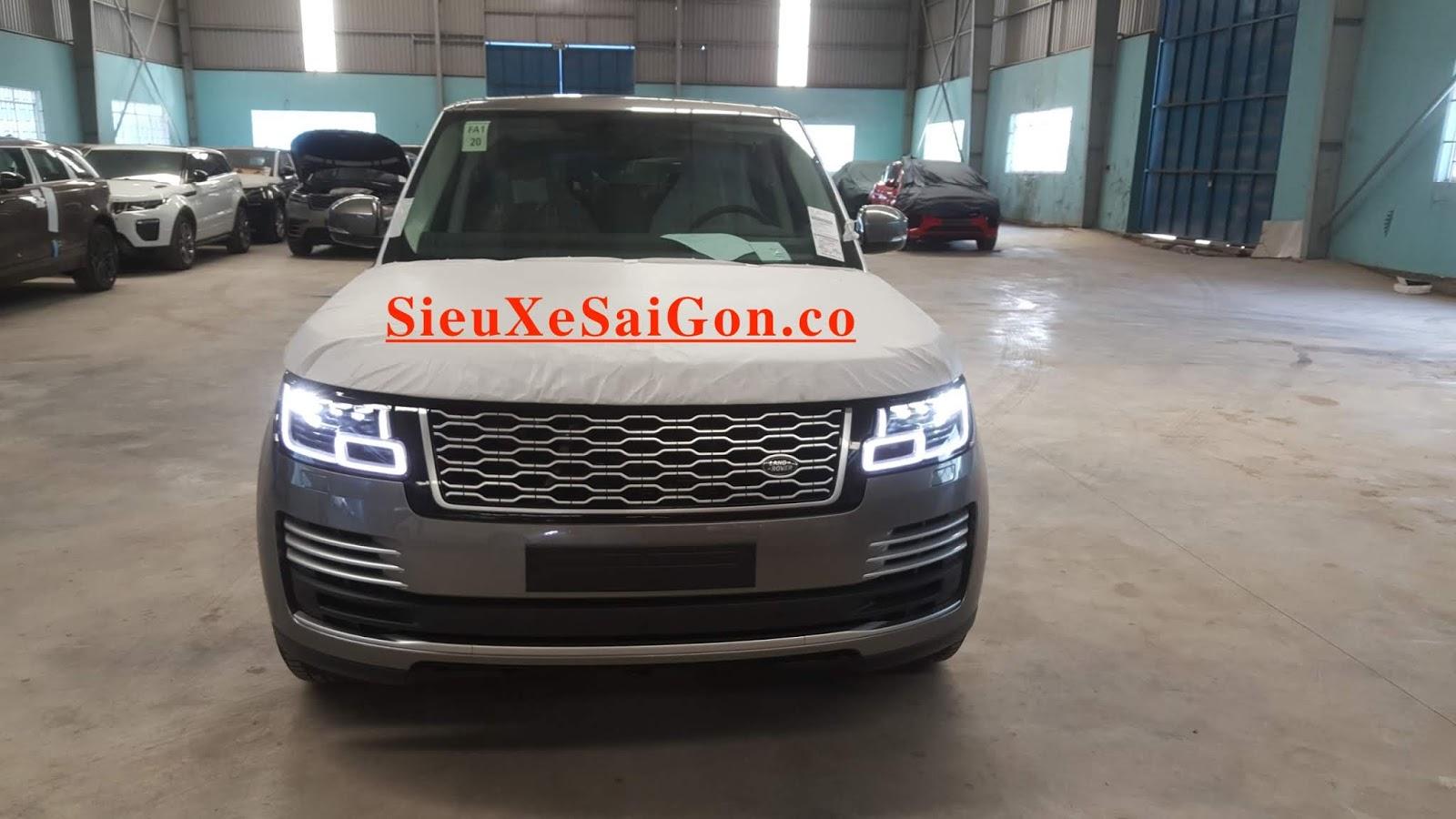 Đèn pha led thé hệ mới, Mẫu Động Cơ 3.0 V6 Range Rover Phiên Bản Dài LWB Autobiography 2018 Model 2019 Giao Ngay Giá Bao Nhieu Tiền - màu silicon silver ánh kim bạc