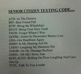 Senior citizen text abbreviations