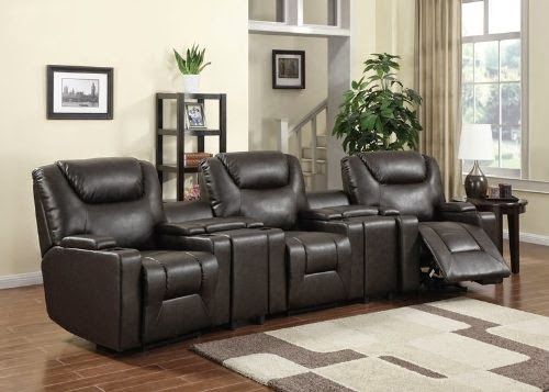 5pc Modern Transitional Electric Recliner Leather Sofa Set