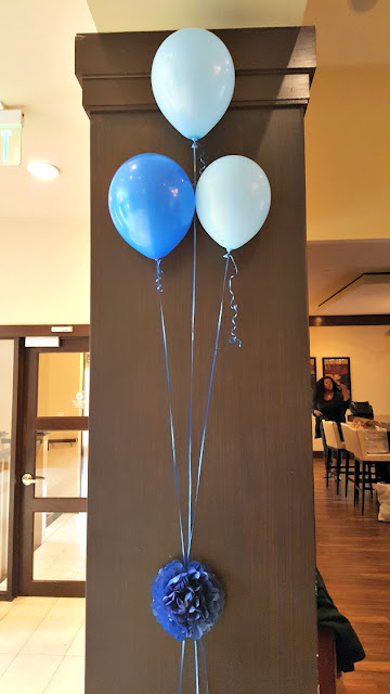 little man baby shower balloons