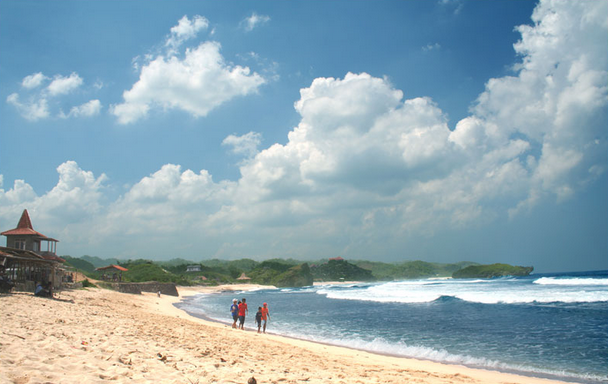 The Most Popular Beach in Jogjakarta, Indonesia