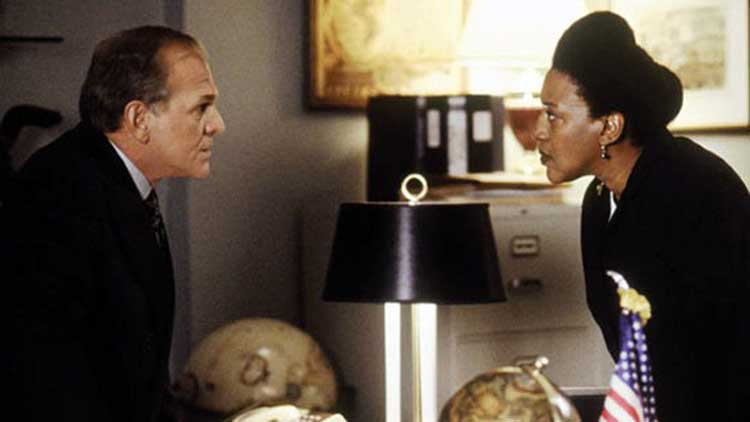 John Spencer and CCH Pounder in the West Wing episode Celestial Navigation.