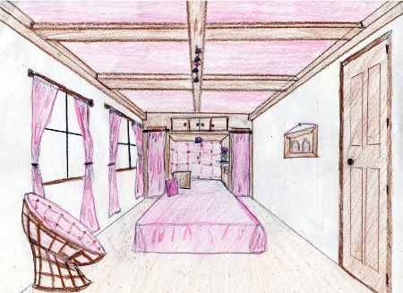 Articulate sketchbook assignment due 3 25 - Two point perspective living room ...