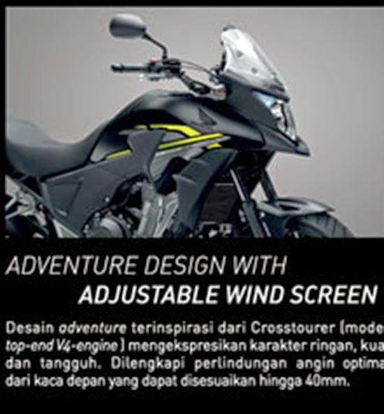 Visor dengan adjustabel wind screen