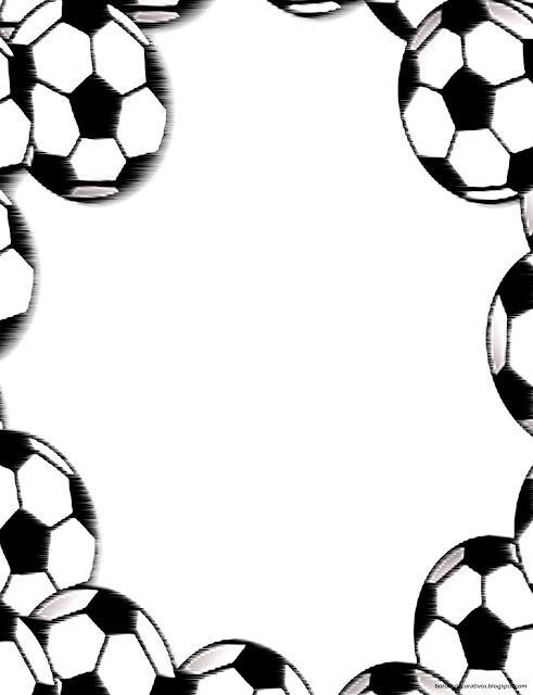 Bordes Decorativos: Bordes decorativos de hojas de Ftbol