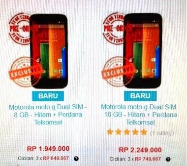 Smartphone Android Moto G Jadi Rebutan Di Indonesia