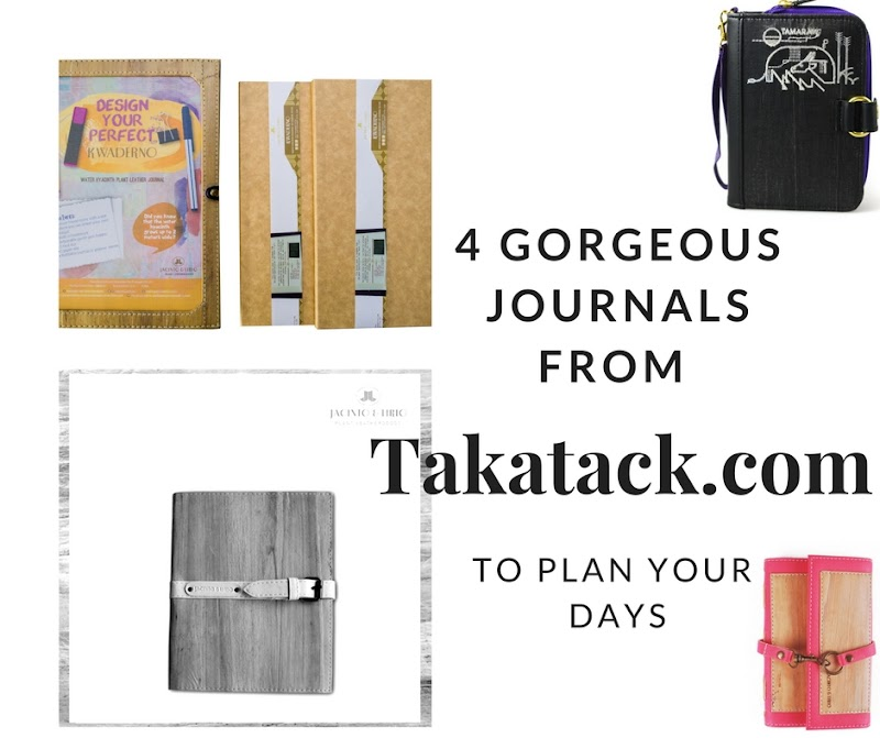 4 Gorgeous Journals from Takatack.com to Plan Your Days