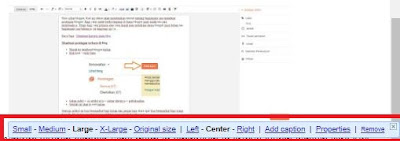Mengatur ukuran gambar pada artikel blog