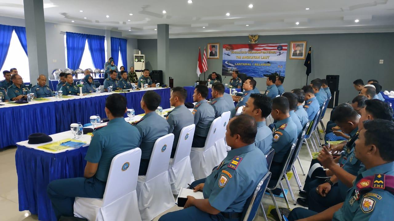 Dislaikmatal Sosialisasi Kelaikan Materiel TNI AL di Lantamal I