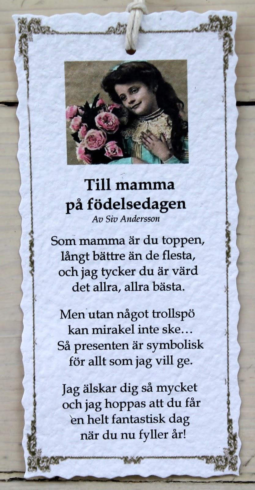 grattis på födelsedagen mamma dikt Annas idéer bloggbutik: september 2015 grattis på födelsedagen mamma dikt