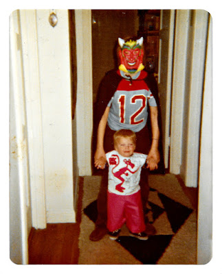 Rory Sarsfield (as a devil) and me at 19 Ramona Avenue in Piedmont, California in 1979