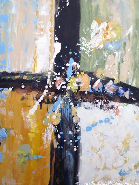 art, artist, artwork, abstract, commission, custom, custom art, custom abstract, malinda prudhomme, toronto art, toronto artist, green, gold, black cross, splash paint