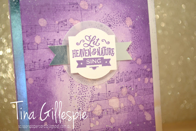scissorspapercard, Stampin' Up!, Art With Heart, Heart Of Christmas, Hearts Come Home, Sheet Music, Star Of Light, Shimmer Paint