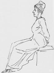 Marie Antoinette, mahkeme sırasında ki çizimi.
