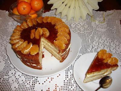 Tarta de mandarina y chantilly