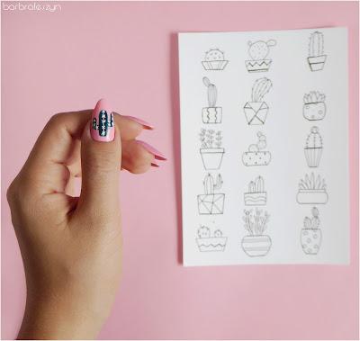 kaktusowe paznokcie