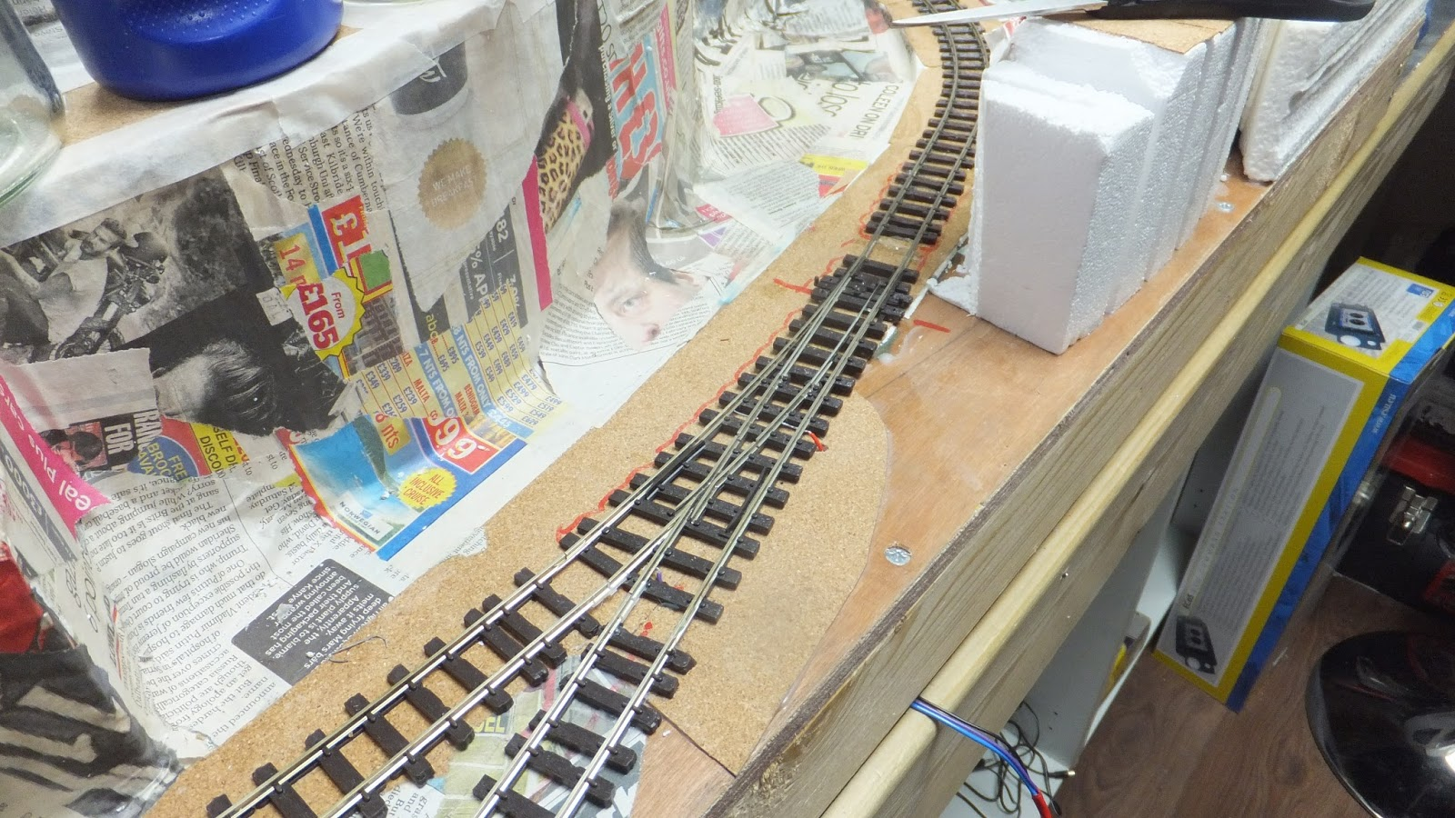 Track Laying and Point Wiring. I am off to Perth Model Railway Show  tomorrow.