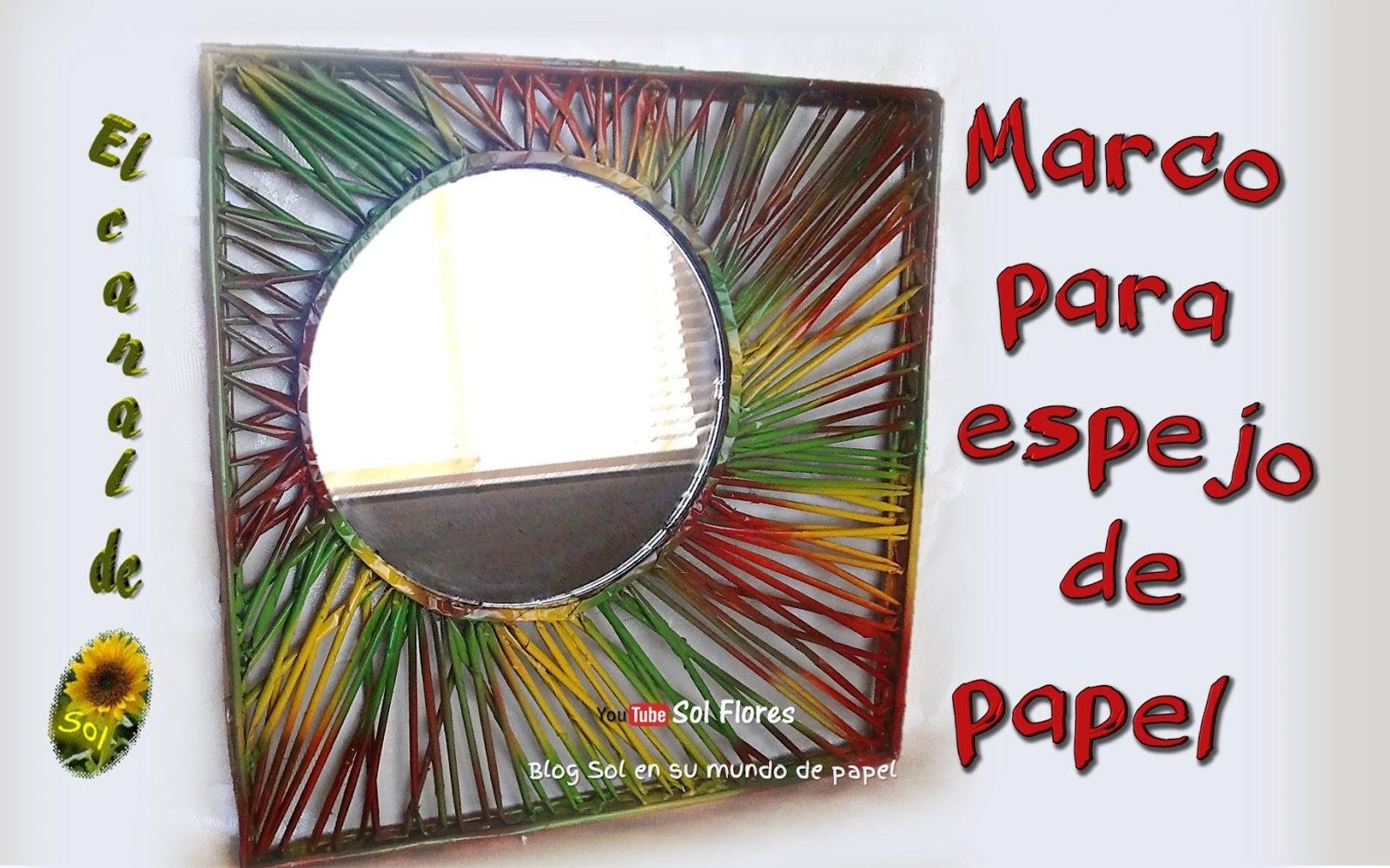 Marco para espejo de papel peri dico - Espejo de papel ...