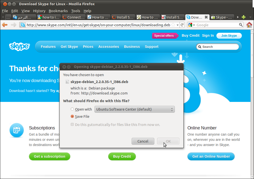 Everything About Linux: How To Install Skype On Ubuntu 11.04 (Natty Narwhal)