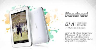 Harga Tablet Advan Vandroid 01A - Tablet CDMA Murah