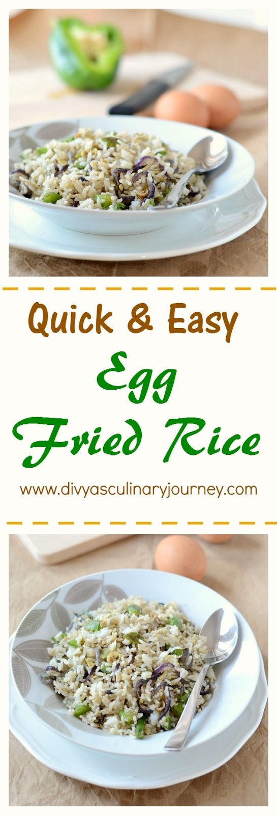 egg fried rice, easy egg fried rice