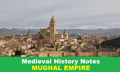 History Notes Mughal Empire for SSC, IB, Railway