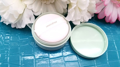 The mineral powder comes with a small puff.