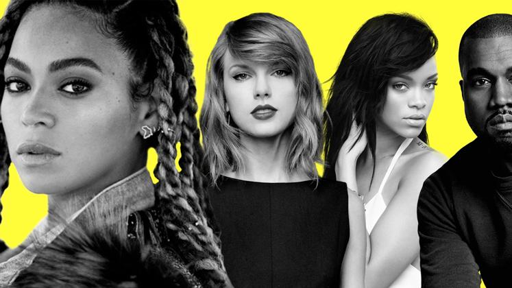 """Beyoncé será a mais indicada da noite, Taylor Swift homenageada e """"Famous"""" indicado ao Clipe do Ano."""
