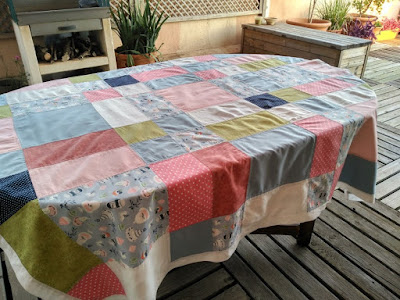 mantel, patchwork, costura, couture, sewing, tablecloth, nappe