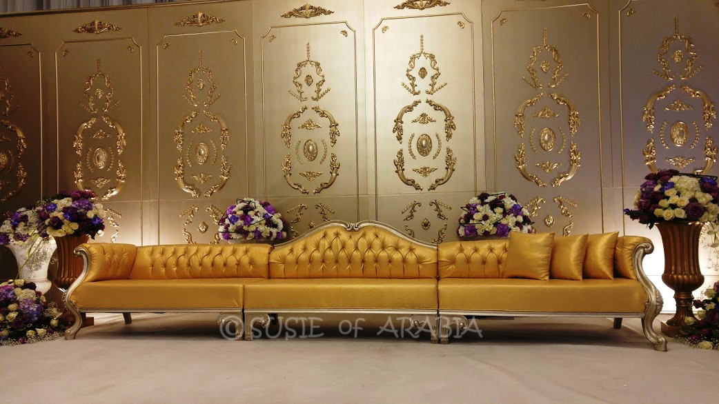Susie of arabia a peek inside a saudi wedding the gorgeous seating area on the stage for the bride was surrounded by beautiful purple and white floral arrangements it was picture perfect junglespirit Choice Image