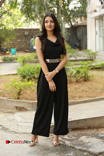 Telugu Actress Rukhsar Mir Stills in Black Long Dress at Aakatayi Movie First Look Launch  0108.JPG