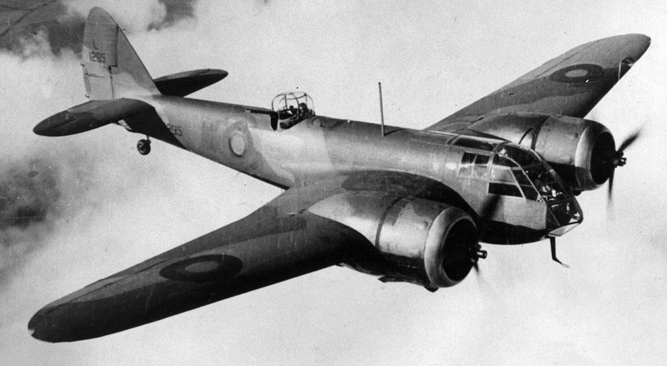 Bristol Blenheim airplane.