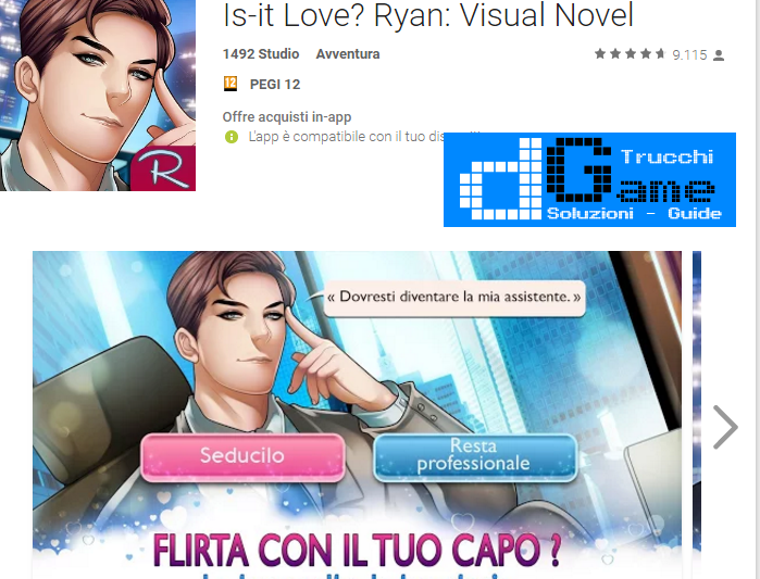 Trucchi Is-it Love? Ryan: Visual Novel Mod Apk Android v1.1.89