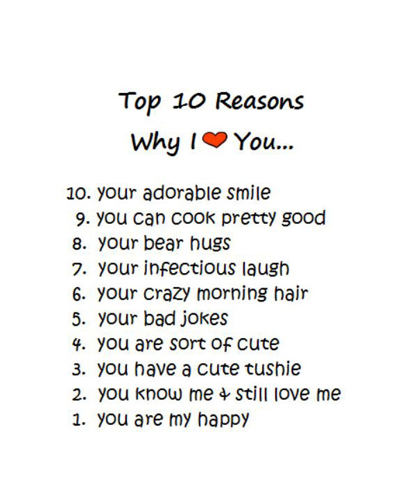 5 Reasons Why I Love You Quotes : ... WHY I LOVE YOU - When your lover asks why you love me ~ LOVE Quotes