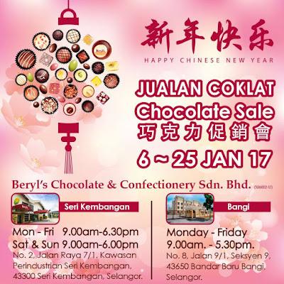 Beryl's Chocolate Chinese New Year Chocolate Sale