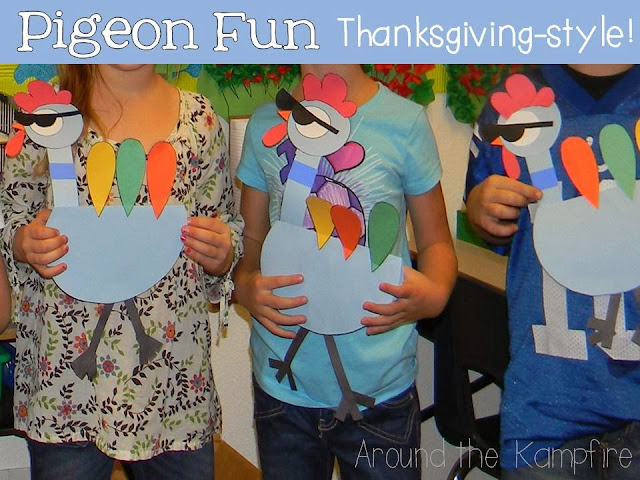 Thanksgiving Pigeon persuasive writing craft booklet