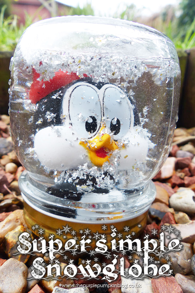 #Christmas #Crafts | Super Simple Snowglobe | The Purple Pumpkin Blog | #shop #cbias