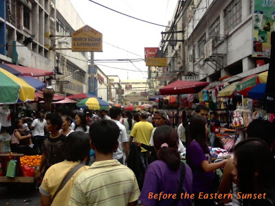 Carriedo Street - crowd going to Quiapo Church