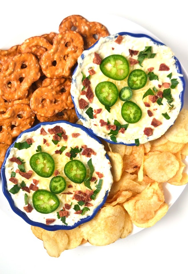 Jalapeno Popper Dip is rich, creamy, spicy and cheesy, tastes like your favorite fried appetizer but is healthier and is ready in just 25 minutes! www.nutritionistreviews.com