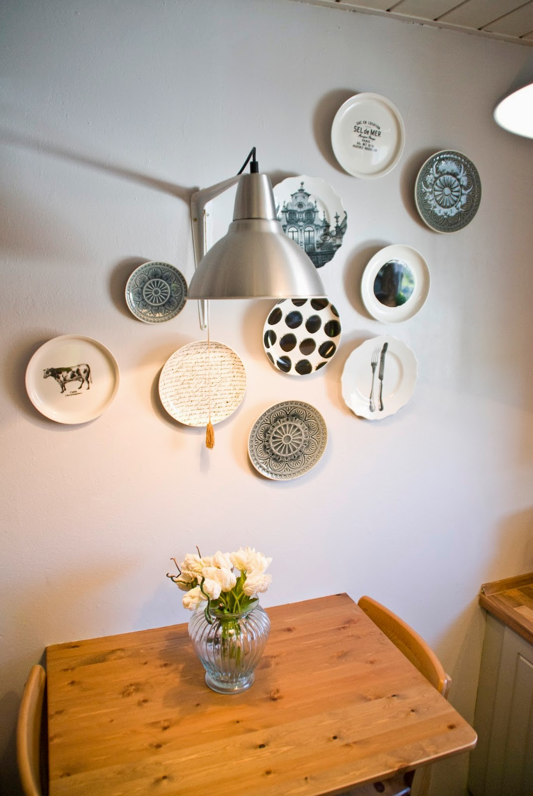The Kitchen Reveal Vivere Wall Clock Double Shaped Cream My Cleaned Chalkboard And Rooster
