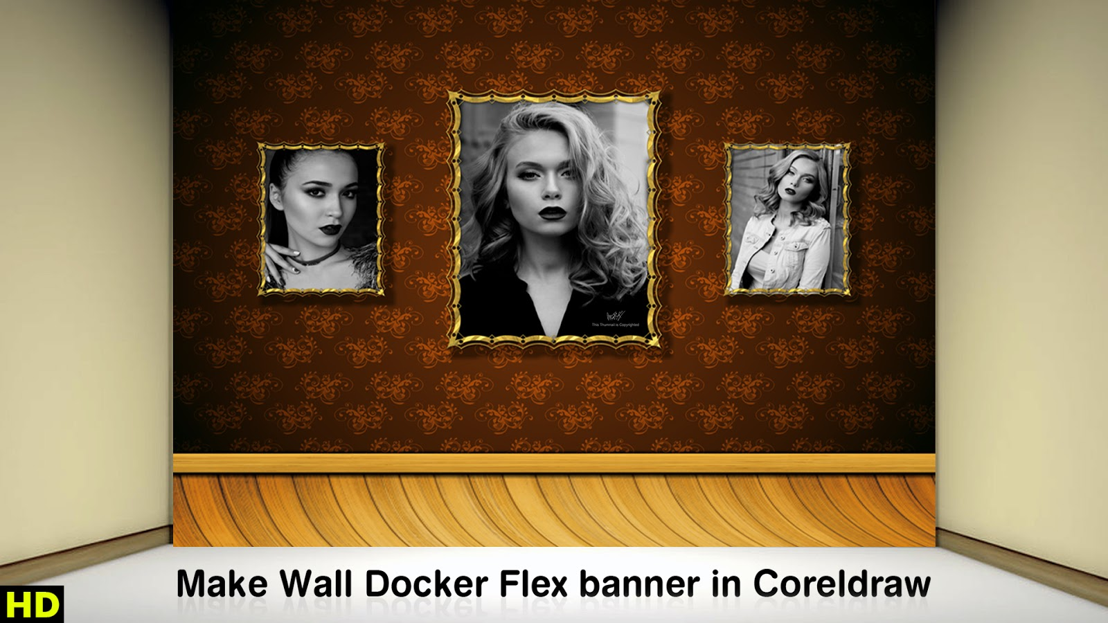 Wall Decor Flex banner in Cdr File - Anas Graphics