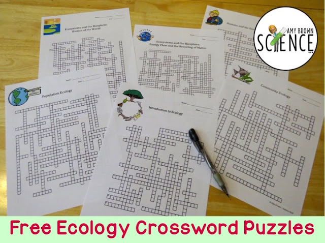 Amy Brown Science Free Ecology Crossword Puzzles