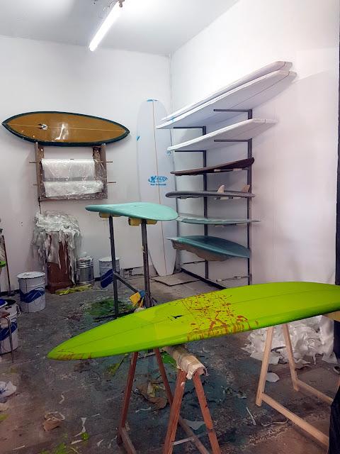 Una de las salas del taller