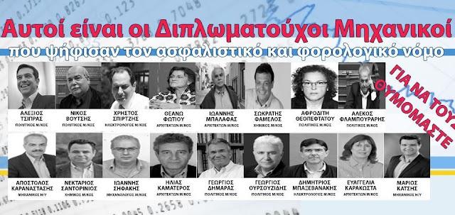 «Μακαρίτες» για το ΤΕΕ ο Τσίπρας Μάριος Κάτσης και άλλοι 15 μέλη του βουλευτές που ψήφισαν το ασφαλιστικό (ΦΩΤΟ)