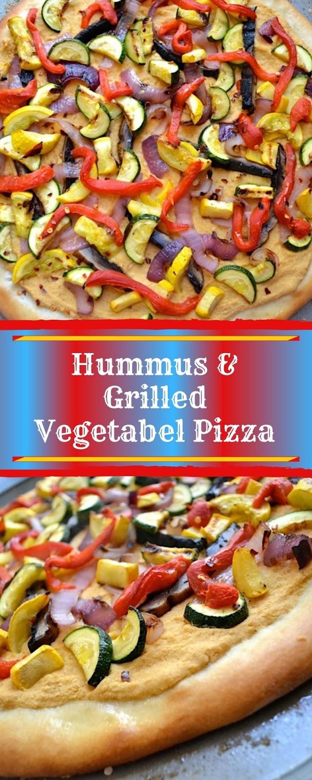 Hummus & Grilled Vegetabel Pizza