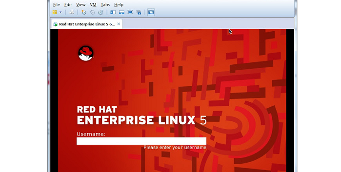 red hat linux installing on vmware