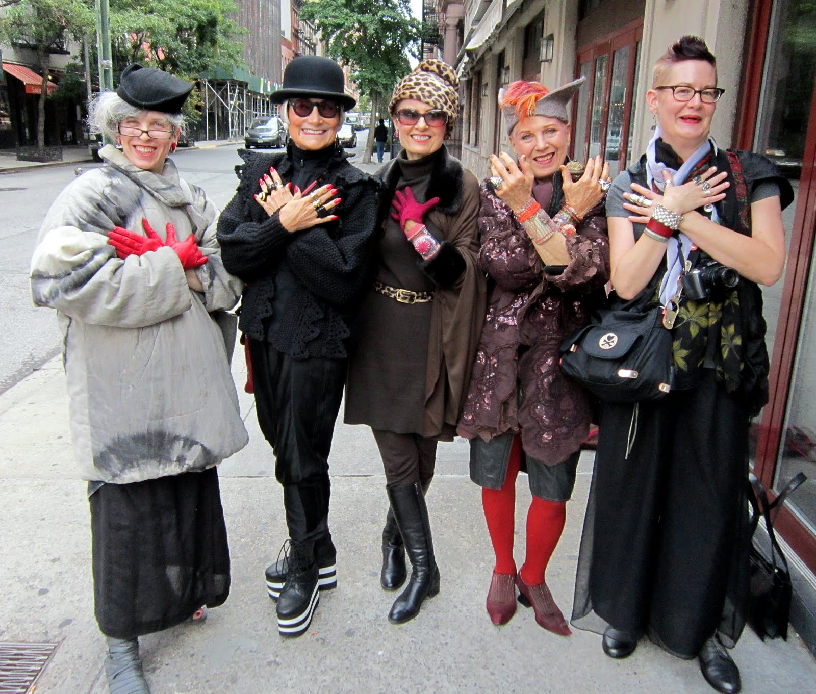 Elderly Fashionista: Idiosyncratic Fashionistas: Ladies Who Lunch, Brunch And